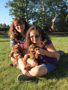 the family at Mountain View Labradoodles